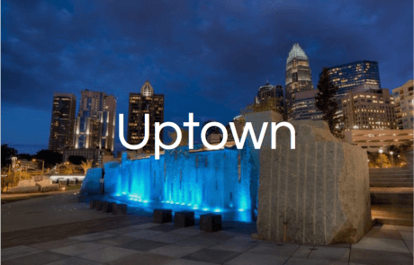 Romare Beardon Park fountain in Uptown