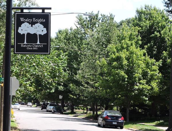 Wesley Heights Charlotte Neighborhood street Grandin Rd